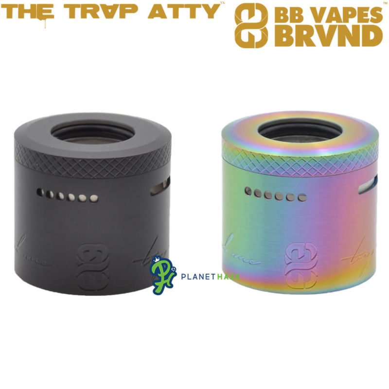 BB Vapes TRVP Top Cap Black and Iridescent