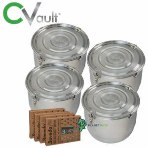 Freshstor CVault Storage Container 21 Liter - 4pack